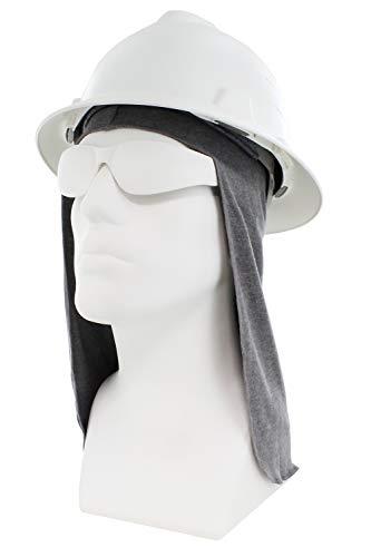 Benchmark FR Flame Resistant FR Hard Hat Liner, Sun Shade, One Size Light Gray