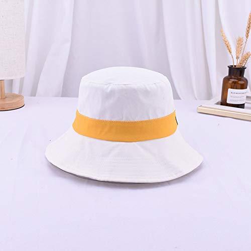 Visera Simple Personalidad Coincidencia de Color Sombrero Plano Blanco M (56-58cm)