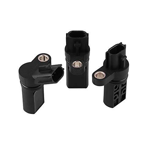 HJG Cam CMP Position Arbre à cames Capteur Set FX35 G35 I35 M35 pour Nissan 350Z Altima Frontier Accessoires Voiture ECU, 2 Arbres à cames + 1 Vilebrequin capteur