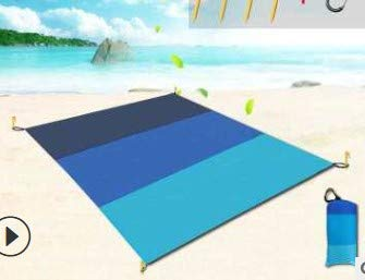 OUZHOU Alfombrilla de picnic para pícnic, a prueba de humedad, impermeable, tela de pícnic, tapete de playa, degradado, portátil, plegable, para viajes al aire libre (31 x 57 pulgadas)