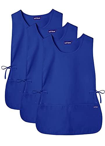 SIVVAN Unisex Apron - Cobbler Apron 3-Pack - S87003 - Royal Blue - R