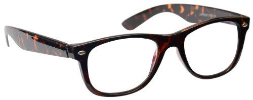 Die Lesebrille Unternehmen Braune Schildpatt Kurzsichtigkeit Entfernung Brille Herren Frauen Mit Etui UVMR007 Dioptrien -1,00