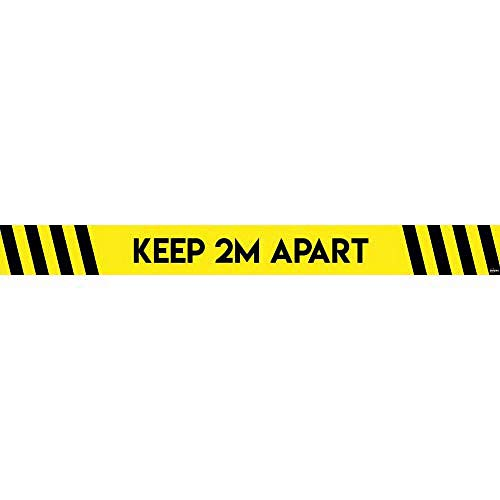 Avery COVID-19 - Adesivo da pavimento a distanza sociale, 1000 mm x 140 mm, 2 adesivi in vinile per confezione