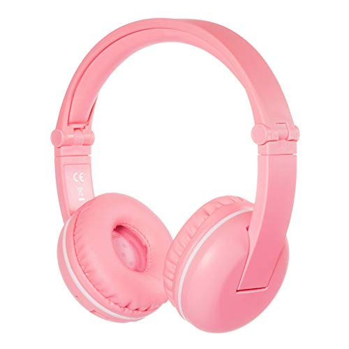 Wireless Bluetooth Children's Headphones, Headset with Microphone Professional Learning Listening Headphones, Blue, Pink (Color : Pink)