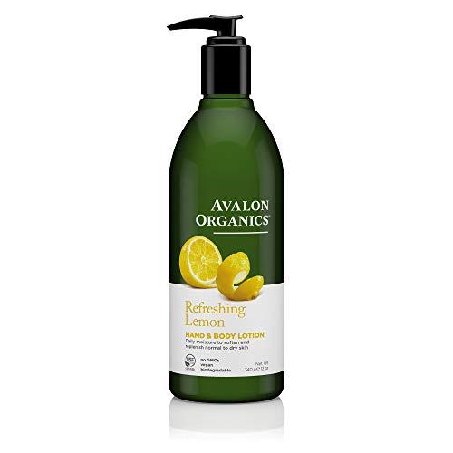 Avalon Organics Hand & Body Lotion Refreshing Lemon, 12 oz