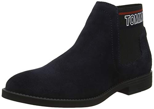 Tommy Hilfiger Damen Corporate Elastic Chelsea Boot Stiefeletten, Blau (Midnight 403), 40 EU