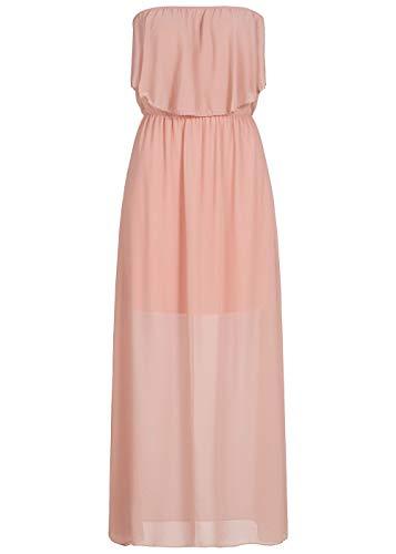 Styleboom Fashion® Damen Kleid Maxi Bandeau Chiffon Dressrosa, Gr:S