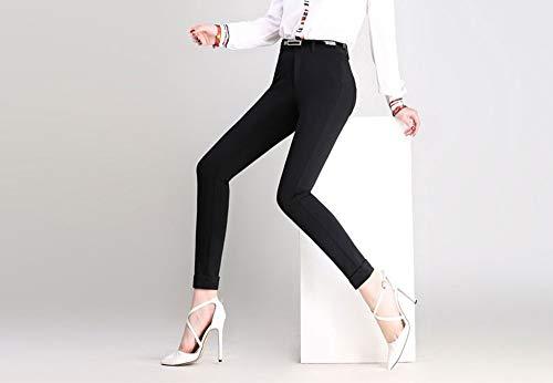 AKDYH Damesbroek Formule werkbroek voor vrouwen pak broek Femme zwart wit blauw potlood broek