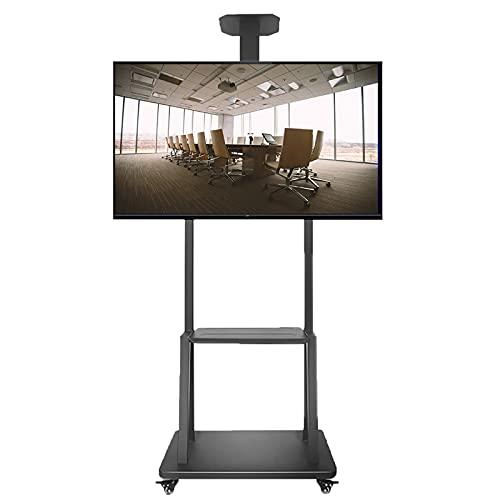 Supporto TV da pavimento Carrello TV Carro de TV móvil/con Ruedas para televisores LED LCD de 40-75 Pulgadas, Soporte de TV de Suelo para Sala de Estar/recibidor