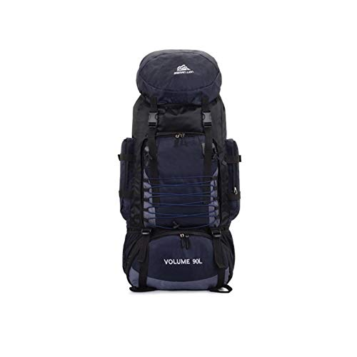 90L Travel Bag Camping Backpack Hiking Climbing Bags Trekking Mountaineering Large Capacity Sport Rucksack gym backpack hiking bags rucksacks for men (Color : 90L Dark Blue)