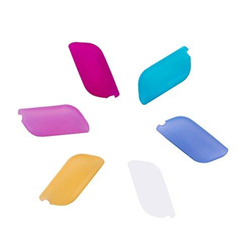 QHGstore Confezione da 6 Coperture silicone flessibile Spazzolino da denti