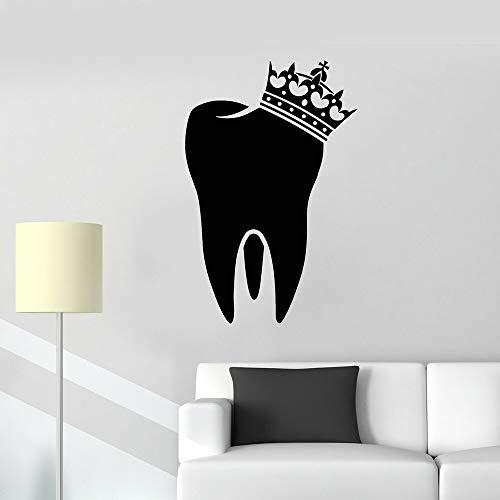 LKJHGU Denti Corona Adesivo da Parete in Vinile Adesivo da Parete in Vinile Igiene Dentale | Utensili da Cucina Wall Art in Kitchen Restaurant Frigorifero Decorazione