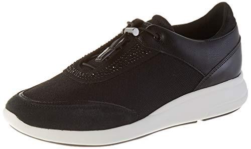 Geox Damen D Ophira C Sneaker, Schwarz (Black C9999), 39 EU