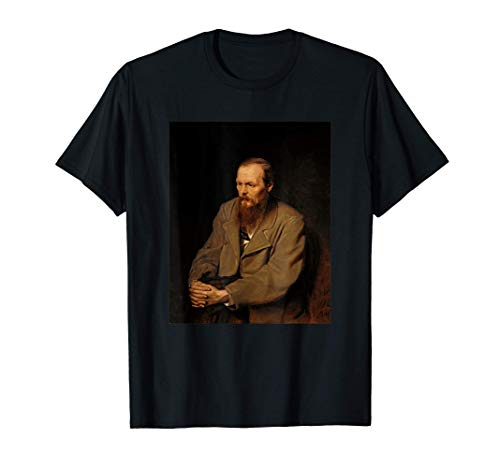 Retrato del escritor ruso Fyodor Dostoevsky Camiseta
