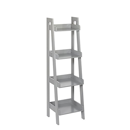 RiverRidge 4-Tier Ladder Shelf for Kids, Gray