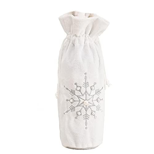 YHFJB Copo de nieve blanco, tapa para botellas, regalo de compromiso, Navidad, Halloween, plateado