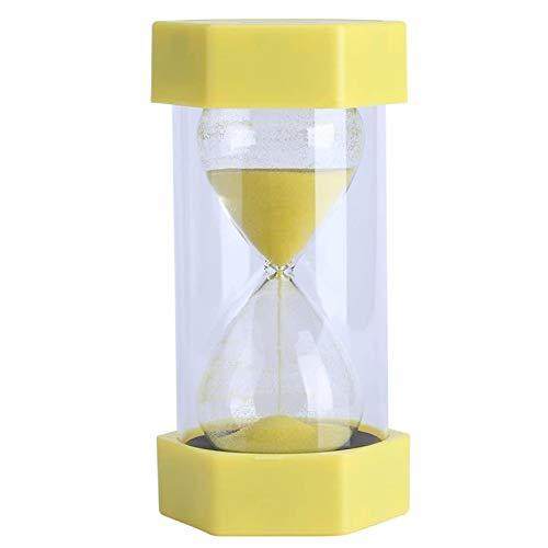 LPing 15 Minutos Hexagonal Colorido Arena Cristal Reloj de Arena Temporizador Reloj Decoración de Oficina en casa,Decoración de Regalo