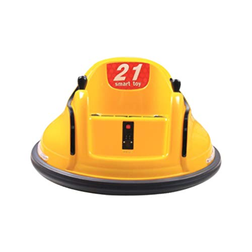 Ride On Bumper Car Toy for Toddlers Kids Aged 1.5+ 6V Battery-Powered with Light (Yellow)