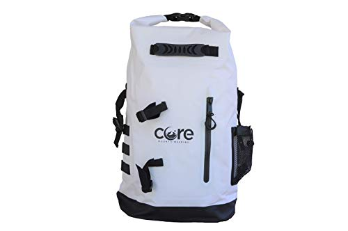 Gold Coast gear Dry Bag Waterproof Backpack 30L - with Padded Straps - Best for Camping, Hiking, Kayaking, Fishing, Biking, Canoeing, Paddle Boarding, Outdoor Sports (White, 28L)