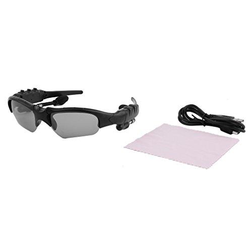 Gafas de Sol Auriculares Auriculares Manos Libres Gafas de Sol Llamada telefónica para teléfono Marco Negro Lente Gris