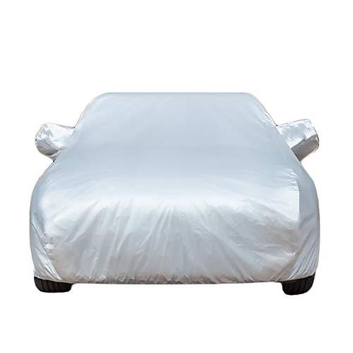 CARCOVER Autoabdeckung Atmungsaktiv Kompatibel Mit Nissan Qashqai Quest Oxford Stoff + Baumwolle All Wetter Wasserdicht/Winddicht/Staubdicht Kratzfest Reißfest (Color : Silver, Size : Qashqai)