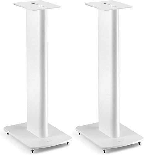 KEF Performance Speaker Stand Weiss Paar, Lautsprecherständer | aus Aluminium | integrierte Kabelführung | befüllbar | Spikes