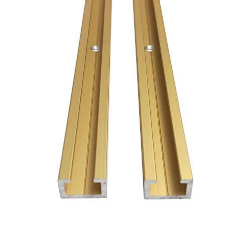 Aluminium CProfil M8 Alu C Profil Gold Edition gebohrt inklusive Schrauben zur Befestigung T Nut Schiene (Länge 1m + 5x Schraube)