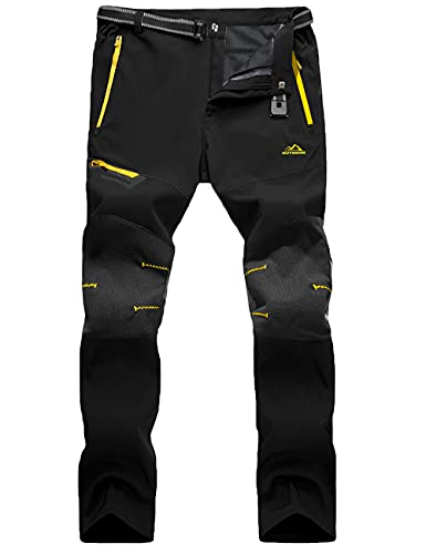 MAGCOMSEN Work Trousers Men Fishing Trousers Casual Walking Pants Outdoor Tactical Pants Quick Drying Trousers Hiking Climbing Pants with Zip Pockets, Black
