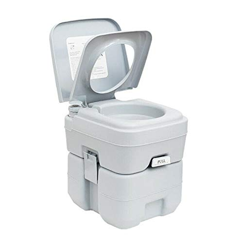 Comft Portable Toilet, 20L 5 Gallon Camping Porta Potty Adults Portable Potty Indoor & Outdoor Flush Portable Potti with Rotating Spout for Travel, Camp, Car, Boat, Hospital (Gray) (20L)