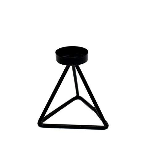 Candeliere In Metallo,Handmade Creative Geometrica Portacandele,Vintage Braccio Singolo Candelabri Nero,La Celebrazione Dei Matrimoni Squisita Candela Fornisce Supporto,Candelabro Fashion Design,Un