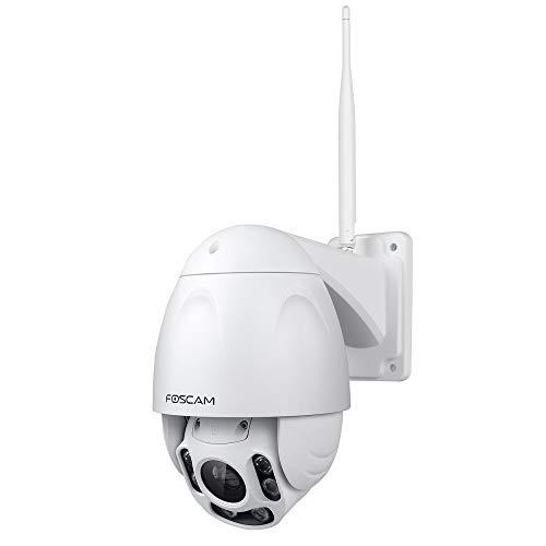 Foscam FI9928P - Telecamera IP Wi-Fi da esterno, Full HD, Motorizzata, Zoom ottico 4x, Autofocus, Visione notturna 60m
