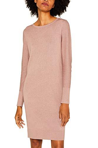 ESPRIT Damen 089Ee1E001 Kleid, Violett (Mauve 5 554), Large (Herstellergröße: L)