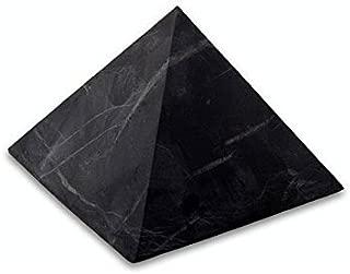 UnPolished Shungite Power Pyramid from Russia - 5 cm (Original Version)