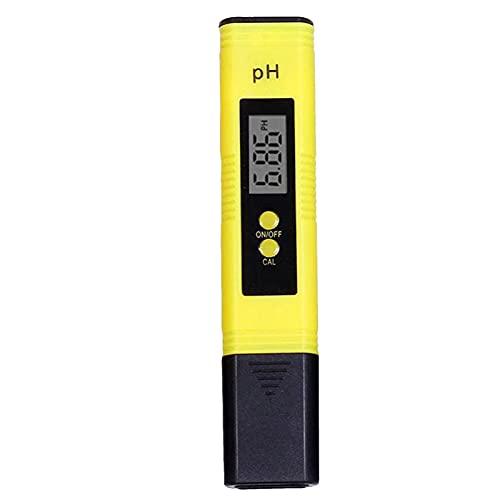 Ulapithi Medidor de pH digital de alta precisión de calidad del agua probador de pH rango de medición para agua potable doméstica, acuario, piscinas, hidroponía