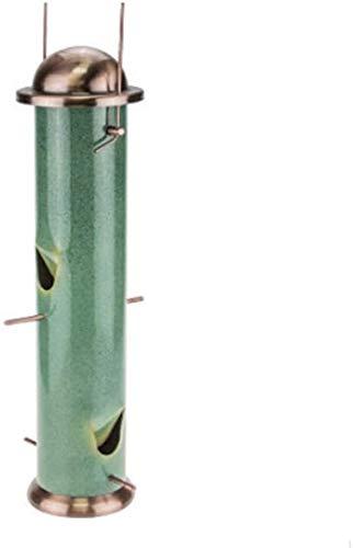 Alimentador del pájaro del alimentador del pájaro salvaje mesa de aves Prestigio de las recargas fácil de la limpieza del tubo colgando decoración resistente a la intemperie metal tradicional casa con