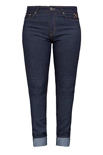 Queen Kerosin Damen Denim Slim Fit Jeans | 5 Pocket Design | Biker | Vintage