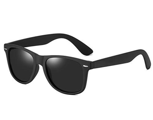NJJX Gafas De Sol Polarizadas Hombres Mujeres Conducir Gafas De Sol Cuadradas Montura Masculina Gafas Clásicas Sin Paquete