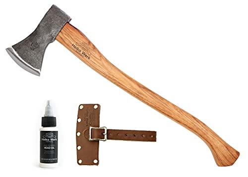 1844 Helko Werk Germany Black Forest Woodworker Axe - Hand Forged Bushcraft Axe Felling Axe Made in Germany 13562