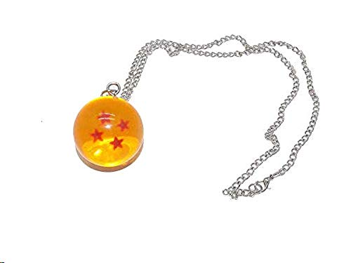 Crystal Acrylic Resin Glass Ball Z Stars Crystal Ball Pendant Charm Necklace (Necklace-4 star)