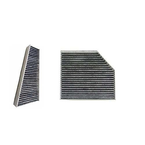 NLLeZ Filtro de Aire Acondicionado para Audi A4 B8 A4 Avant 2007-2015 / A4 allroad B8 2009-2016 / S4 RS4 Quattro 2008-2015 (Color : 2 Pcs Filter Set)