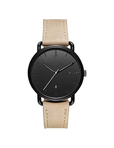 Meller Unisex Erwachsene Analog Quarz Uhr mit Leder Armband W3N-1SAND