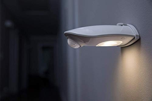 Osram Door LED Down Batteriebetriebene Leuchte, für Außenanwendungen, Bewegungssensor, Tag-Nacht-Sensor, Kaltweiß, 102, 5 mm x 92, 4 mm x 36, 5 mm