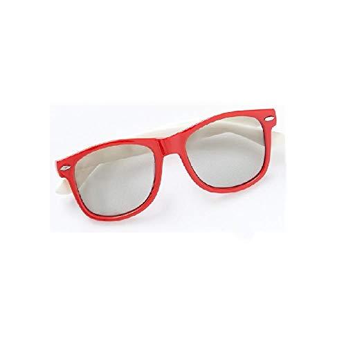 Gafas 3D de Silicona Suave. Gafas estéreo Especiales polarizadas sin Flash. Cine Universal @ A2.