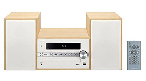 Pioneer X-CM56D HiFi-Micro-System (CD-Player, Lautsprecher, DAB+, UKW Radio, Bluetooth, USB, MP3, 2 x 15 Watt) Kompaktanlage für Küche, Wohnzimmer, Schlafzimmer und Büro, Weiss