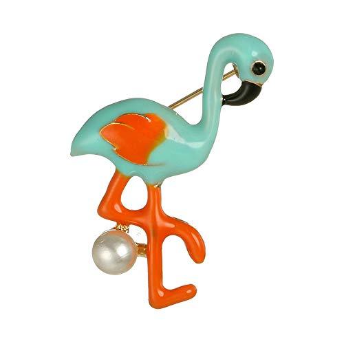 Ningz0l broche flamingo legering hoogwaardige broche dames pak jas pin kraag butto 3,8 cm