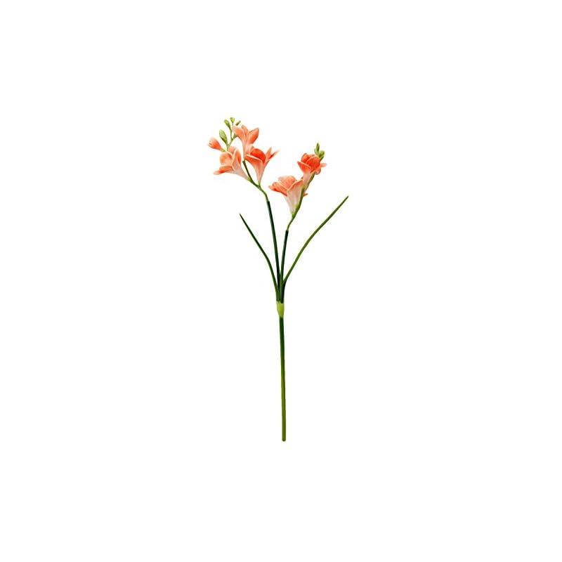 "silk flower arrangements angel isabella 20"" lifelike real touch artificial freesia stem sprays 8 blooms home office wedding decoration flower"