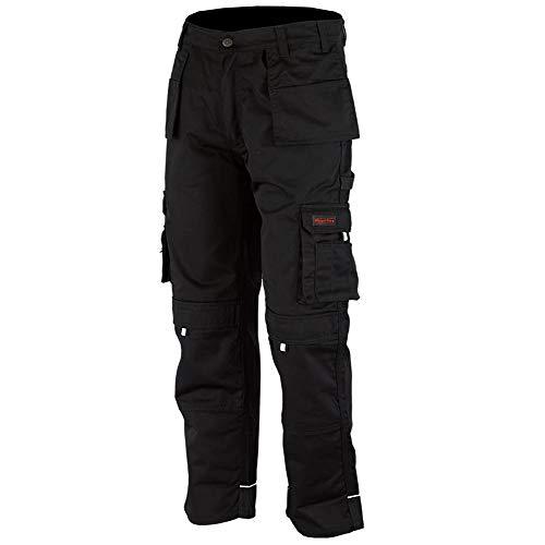 WrightFits Men Pro-11 Work Trousers Black - Heavy Duty Safety Combat Cargo...