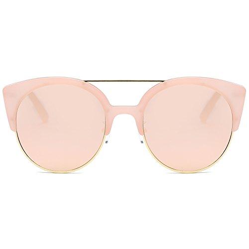 SojoS classici ponti retrò in meta ' metallo Telaio Occhi di gatto occhiali da sole per gli uomini e le donne SJ2035 con Rosa Telaio/Rosa Lente