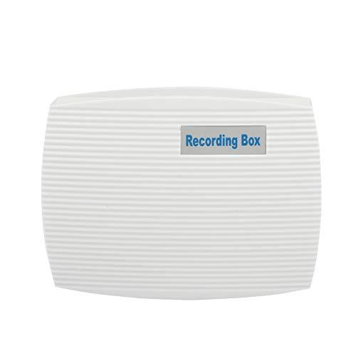 Caja de grabación, ABS 2 Canales USB Grabación Continua Respaldo automático Monitoreo en Tiempo Real Grabador de teléfono Fijo Blanco Monitor de Registro telefónico Activado por Voz