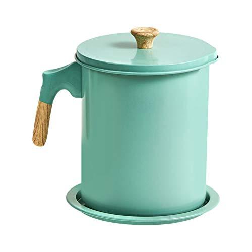 YARNOW 1. Colador de Grasa de 4 L Olla Aceite de Cocina Retenedor de Grasa de Gran Capacidad Recipiente de Tamiz de Aceite de Malla Fina Aceite de Cocina con Filtro para Freidora